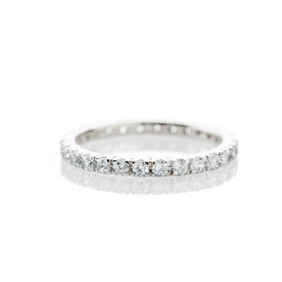 Heidi Kjeldsen Exquisitely Crafted Diamond 1.00ct And 18ct White Gold Full Eternity Ring R1264S