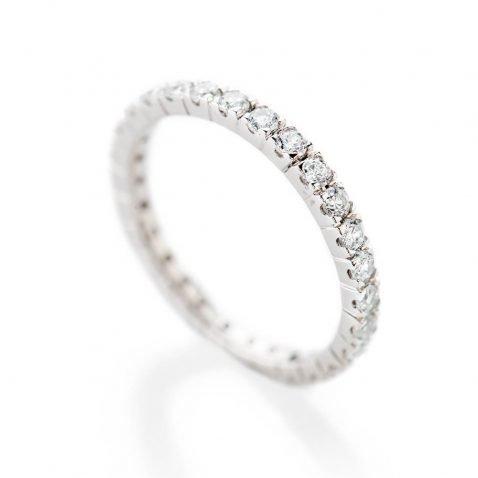Heidi Kjeldsen Exquisitely Crafted Diamond 1.00ct And 18ct White Gold Full Eternity Ring R1264S