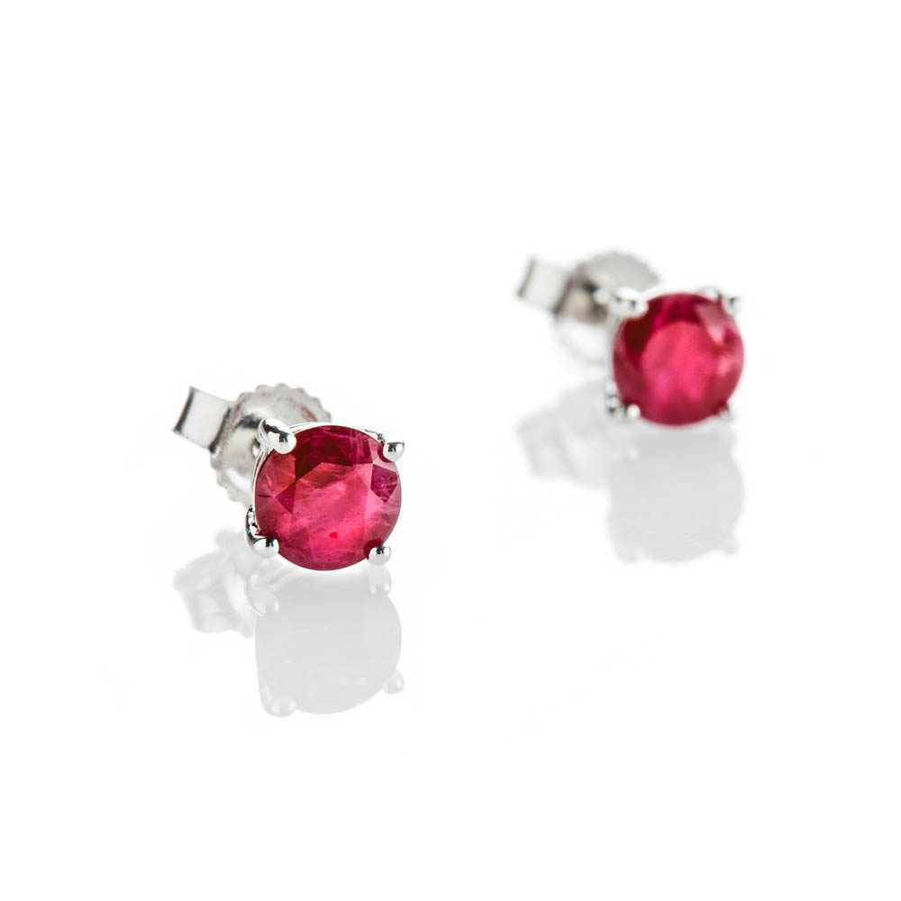 Heidi Kjeldsen Eye Catching Ruby And 9ct White Gold Earrings - ER2301-1