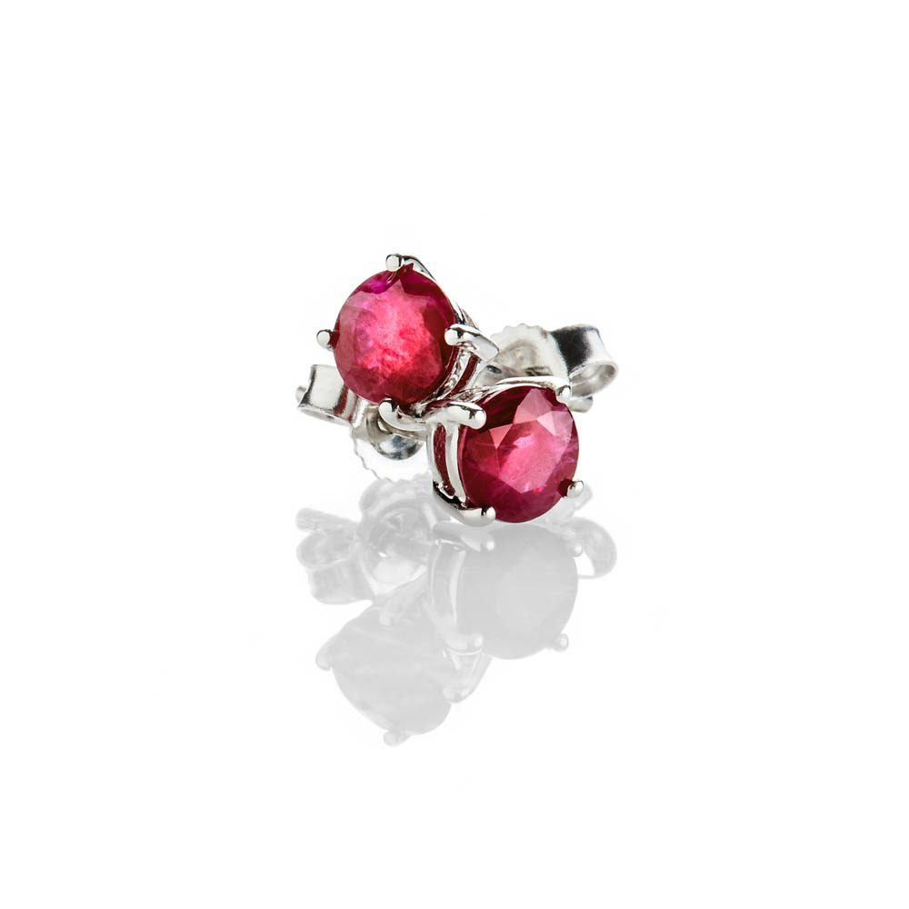 Heidi Kjeldsen Eye Catching Ruby And 9ct White Gold Earrings - ER2301-2
