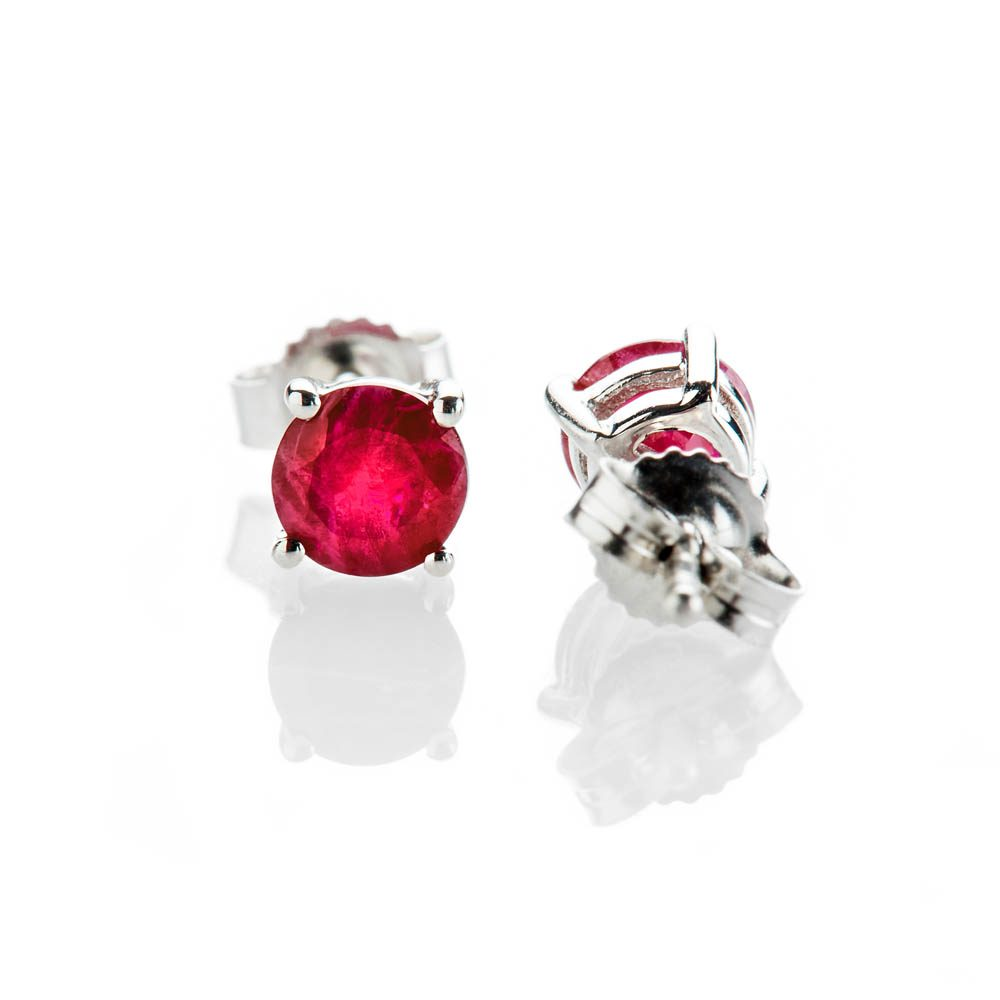 Heidi Kjeldsen Eye Catching Ruby And 9ct White Gold Earrings - ER2301-3