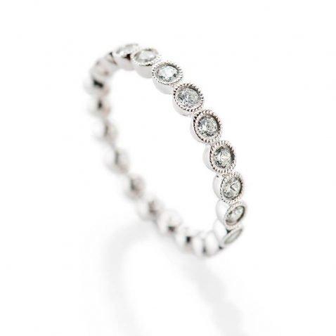 Heidi Kjeldsen Glittering Array 1.00ct Of Diamonds In A Full Eternity Ring 18ct White Gold R1266S