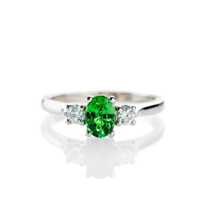 Heidi Kjeldsen Glorious Tsavorite And Diamond Platinum Ring - R1238-1