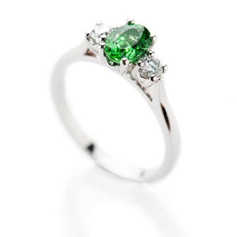 Heidi Kjeldsen Glorious Tsavorite And Diamond Platinum Ring - R1238-2