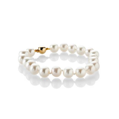 Heidi Kjeldsen Gorgeous Cultured Pearl And 18ct Yellow Gold Bracelet - BL1280-1