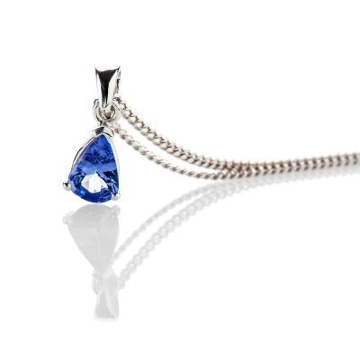 Heidi Kjeldsen Lustrous And Striking Tanzanite Pendant 9ct White Gold - P1207+W9DC183.7-2