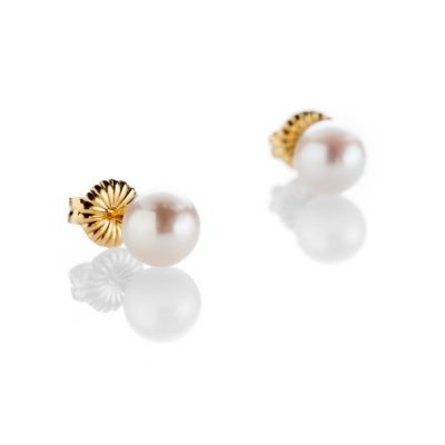 Heidi Kjeldsen Lustrous Cultured Pearl 18ct Yellow Gold Stud Earrings - ER2320-1