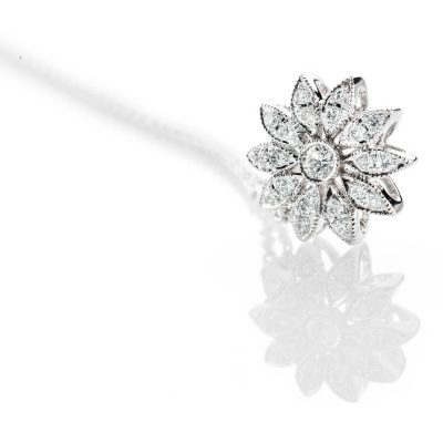 Heidi Kjeldsen Pretty Diamond 18ct White Gold Flower Pendant - P1084-2