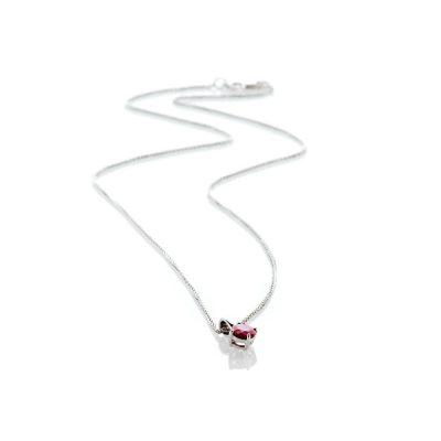Heidi Kjeldsen Ravishing Red Ruby Pendant 9ct White Gold - P1201+W9SP182.1-1