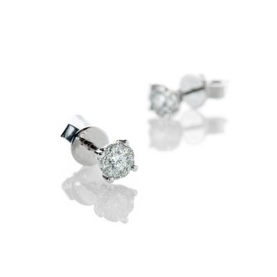 Heidi Kjeldsen Sparkling Diamond Cluster Earrings In 18ct White Gold - ER2216-1