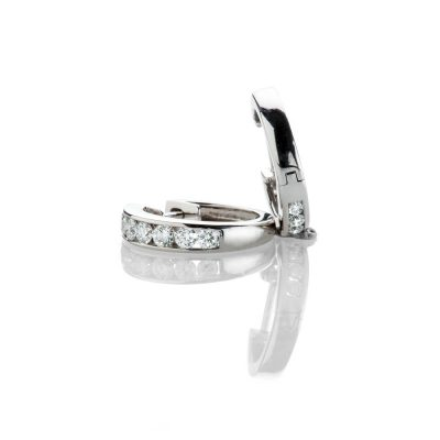 Heidi Kjeldsen Sparkling Diamond Hoop 18ct White Gold Earrings ER2331-2