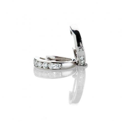 Heidi Kjeldsen Sparkling Diamond Hoop 18ct White Gold Earrings ER2331-2