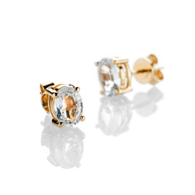 Heidi Kjeldsen Sparkling White Sapphire And 18ct Yellow Gold Earrings - ER2208-1