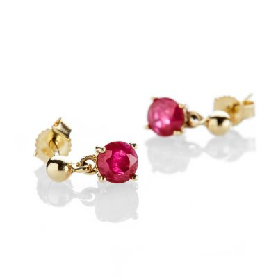 Heidi Kjeldsen Striking Ruby And 9ct Yellow Gold Drop Earrings - ER2300-1