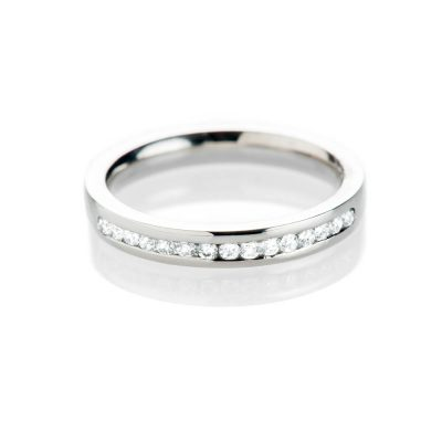 Heidi Kjeldsen Stunning And Sparkling Diamond Platinum Wedding Or Eternity Ring R1138