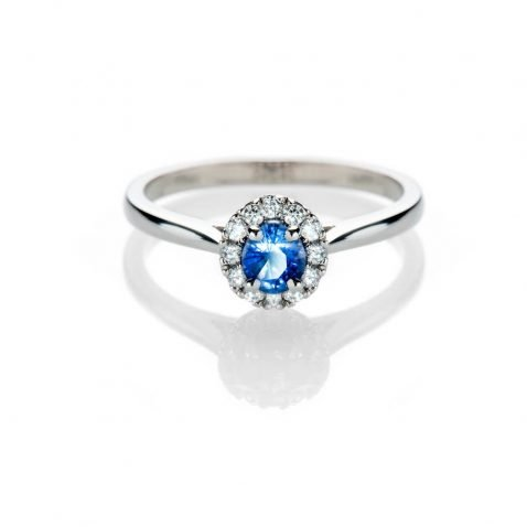 Heidi Kjeldsen Stunning Ceylon Sapphire And Diamond Platinum Cluster Ring R1273
