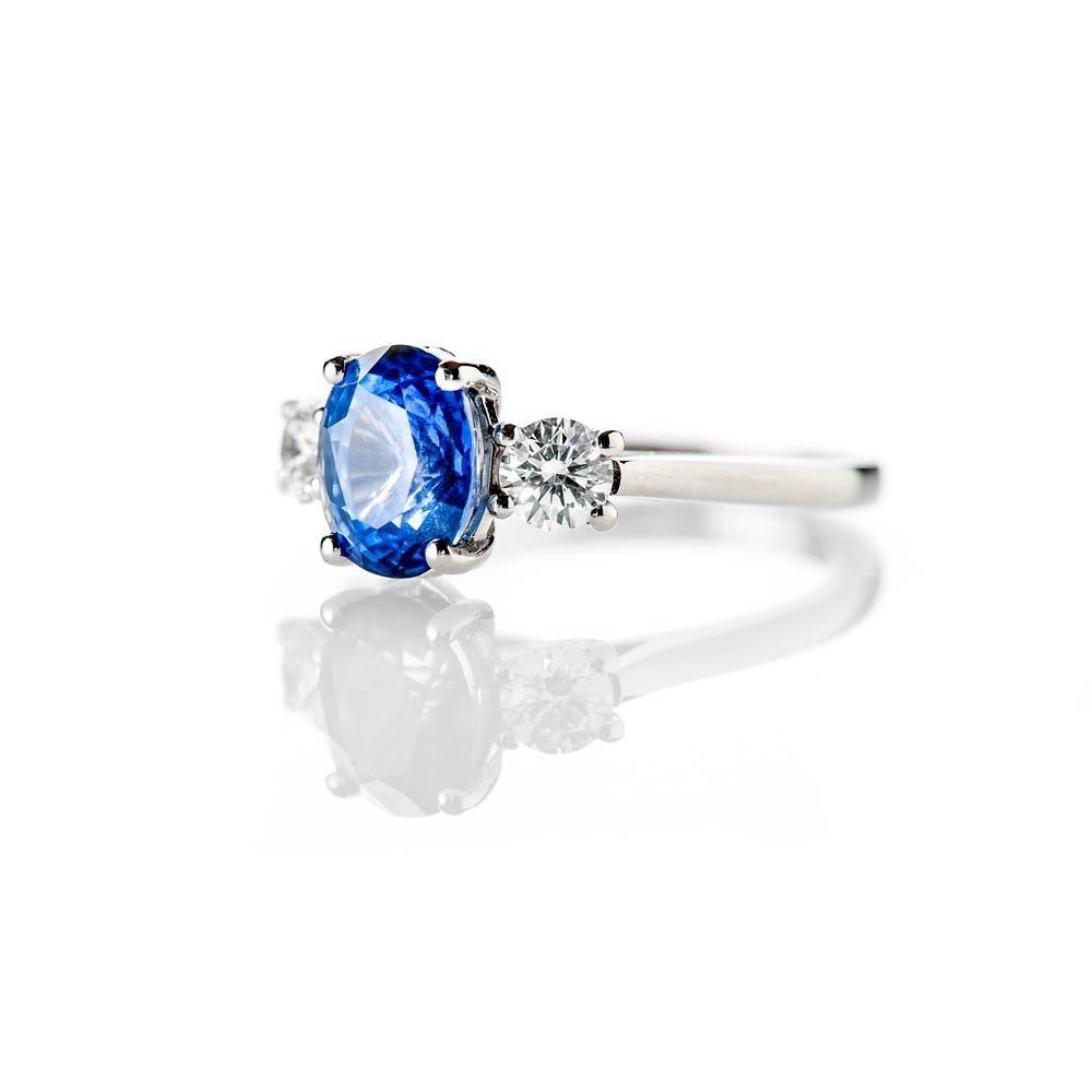 Heidi Kjeldsen Stunning Natural Certificated Unheated Ceylon Sapphire Diamond And Platinum Ring R1239