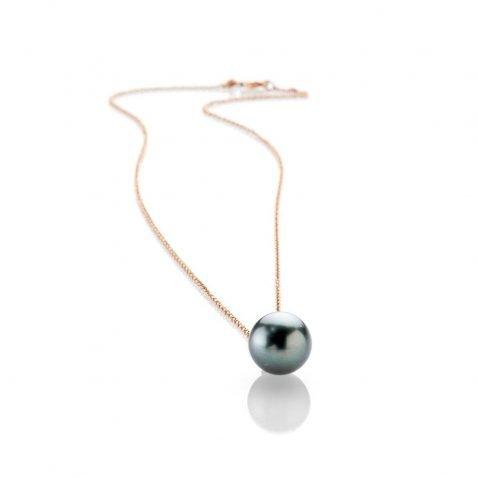 Heidi Kjeldsen Stunning Tahitian Pearl And Diamond 18ct Rose Gold Pendant - P1112-1