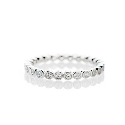 Heidi Kjeldsen Stylish And Elegant Diamond Full Eternity Ring 18ct White Gold R1265S