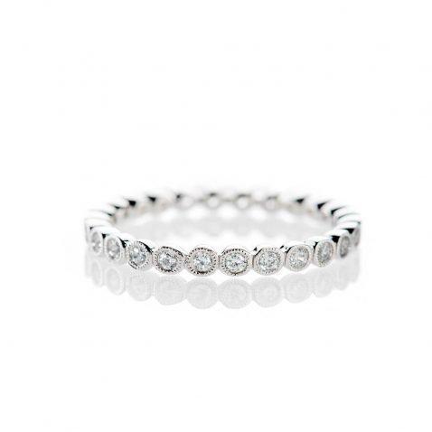 Heidi Kjeldsen Stylish And Elegant Diamond Full Eternity Ring 18ct White Gold R1265S