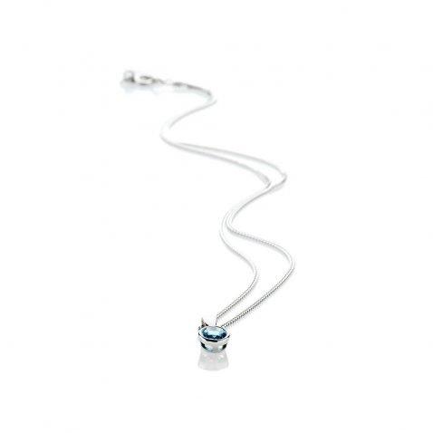Heidi Kjeldsen Tantalising Swiss Blue Topaz Pendant 9ct White Gold - P1202+W9CB162.0-1