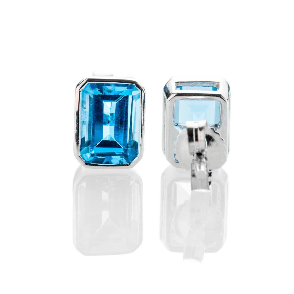 Heidi Kjeldsen Vibrant Swiss Blue Topaz And 9ct White Gold Earrings - ER2302-3