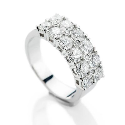 Heidi Kjeldsen Beautiful Brilliant Cut Natural Diamond Platinum Cocktail Or Dress Ring - R1324-2