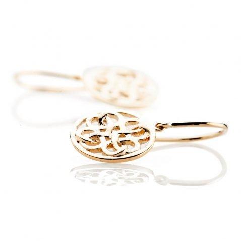 Heidi Kjeldsen Beautiful Gold Viking Love Knot Drop Earrings - ER2352-1
