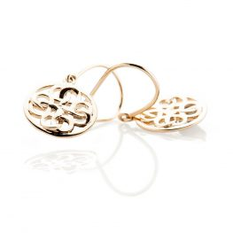 Heidi Kjeldsen Beautiful Gold Viking Love Knot Drop Earrings - ER2352-3