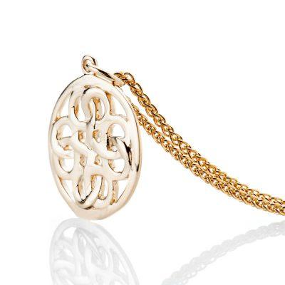 Heidi Kjeldsen Elegant Viking Love Knot Gold Small Pendant - P1231-2