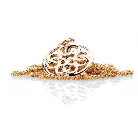 Heidi Kjeldsen Elegant Viking Love Knot Gold Small Pendant - P1231-3