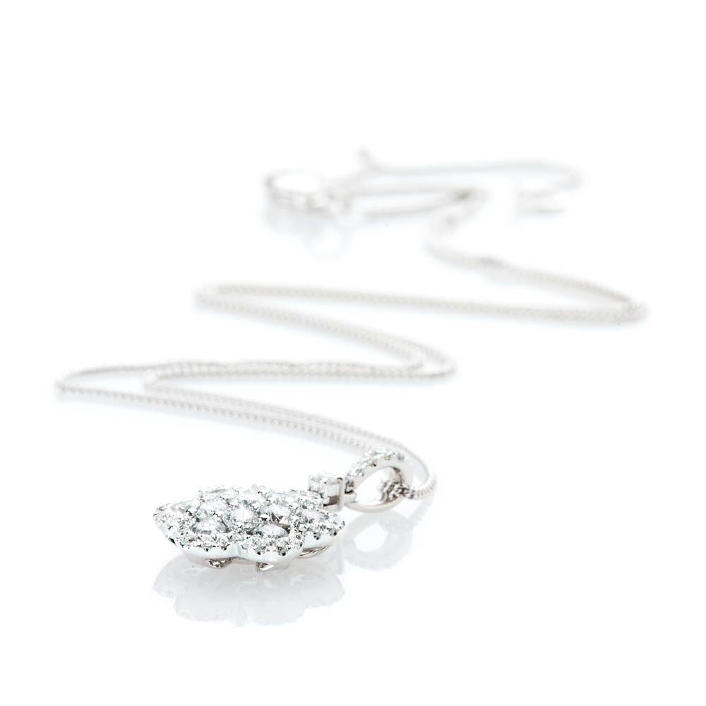 Heidi Kjeldsen Exquisite Brillant Cut Natural Diamond And Gold Flower Cluster Pendant - P1239-1