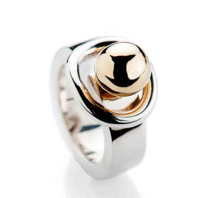 Heidi Kjeldsen Fabulous Sterling Silver Interchangable Globe Ring R1205 - GLOBES-5