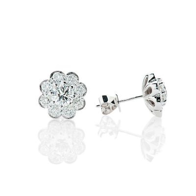 Heidi Kjeldsen Glorious Brilliant Cut Natural Diamond And Gold Cluster Earrings - ER1379-2