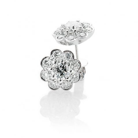 Heidi Kjeldsen Glorious Brilliant Cut Natural Diamond And Gold Cluster Earrings - ER1379-3
