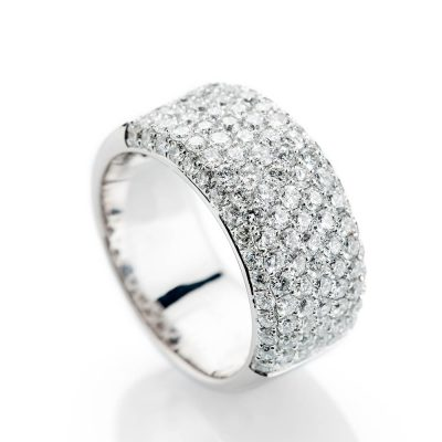 Heidi Kjeldsen Gorgeous Brilliant Cut Pavé Set Natural Diamond And Gold Cocktail Or Dress Ring - R1325-2