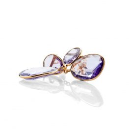 Heidi Kjeldsen Mesmerising Pale Purple Natural Amethyst And Gold Drop Earrings - ER1825-3