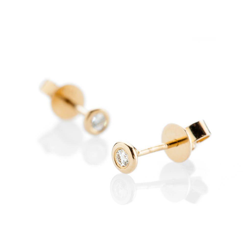 Heidi Kjeldsen Modern Brilliant Cut Natural Diamond And Gold Earstuds - ER2348 - 1