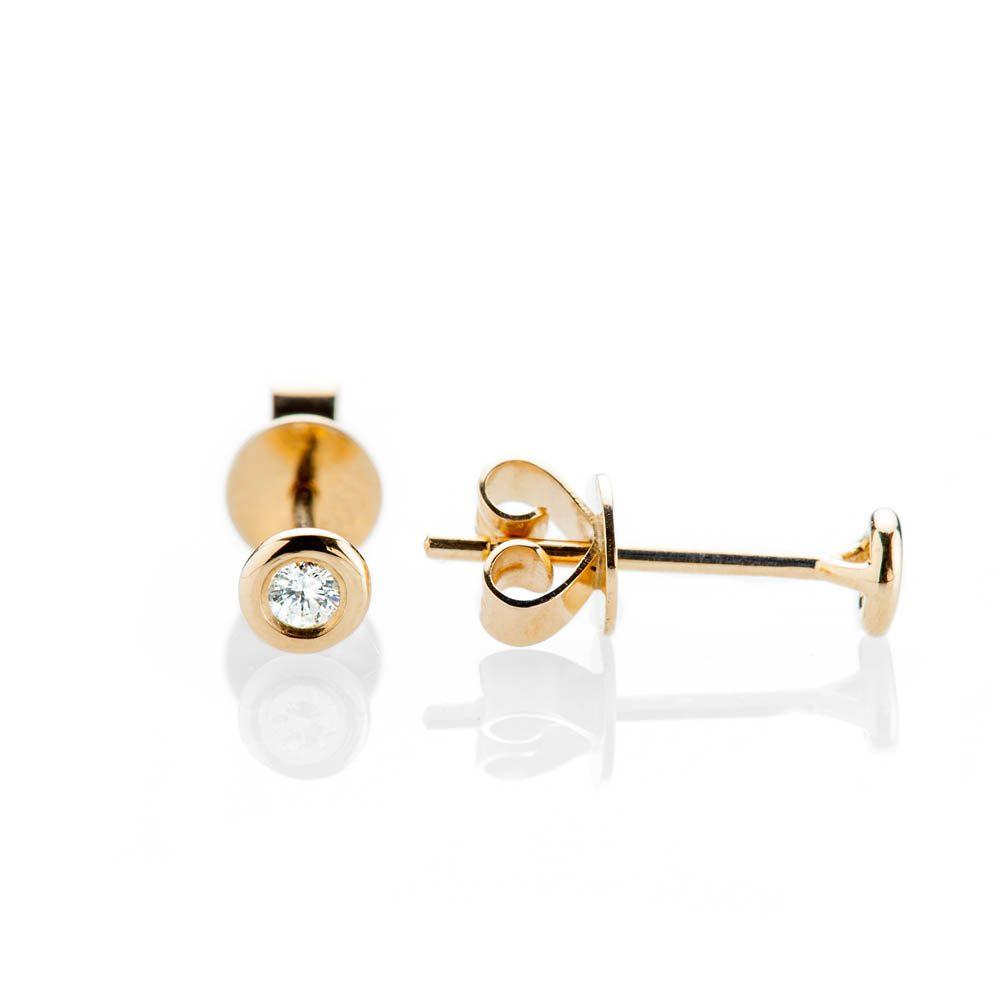 Heidi Kjeldsen Modern Brilliant Cut Natural Diamond And Gold Earstuds - ER2348 - 2