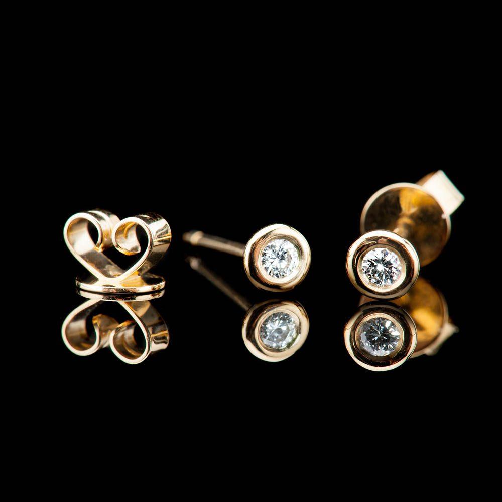 Heidi Kjeldsen Modern Brilliant Cut Natural Diamond And Gold Earstuds - ER2348 - 4