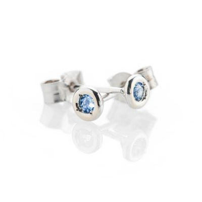 Heidi Kjeldsen Modern Pale Blue Natural Ceylon Sapphire And Gold Earstuds - ER2360-3