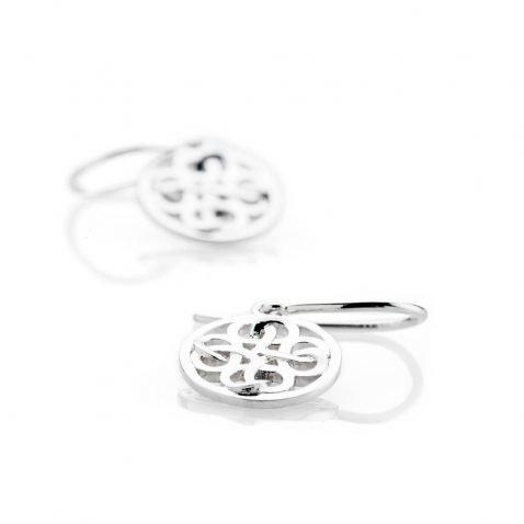 Heidi Kjeldsen Modern Sterling Silver Viking Love Knot Drop Earrings - ER2350-1