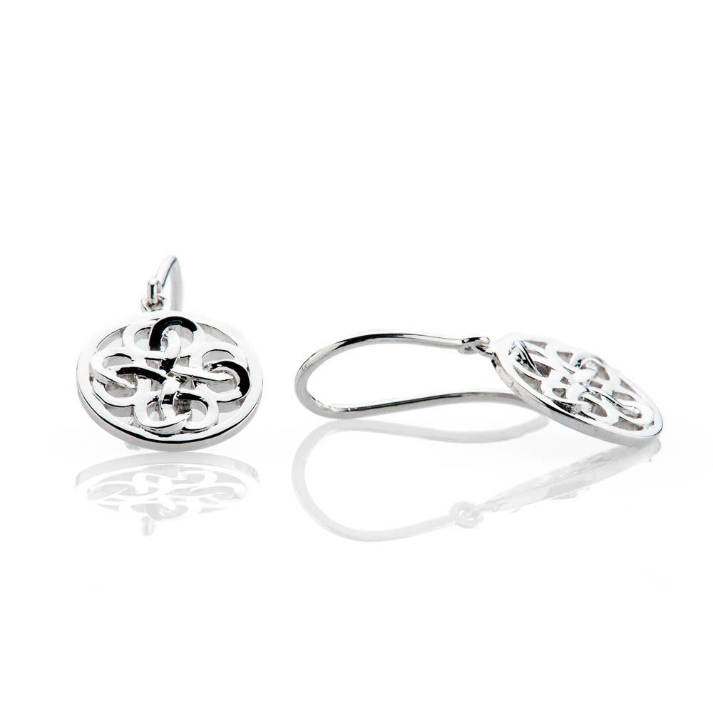 Heidi Kjeldsen Modern Sterling Silver Viking Love Knot Drop Earrings - ER2350-2