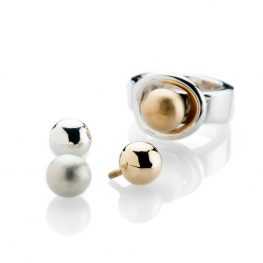 Heidi Kjeldsen Fabulous Sterling Silver Interchangable Globe Ring R1205 - GLOBES-7