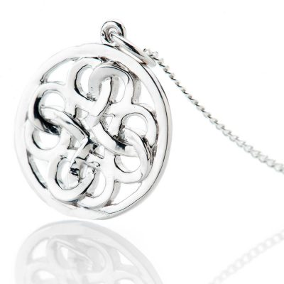 Heidi Kjeldsen Striking Sterling Silver Viking Love Knot Small Pendant - P1229-2
