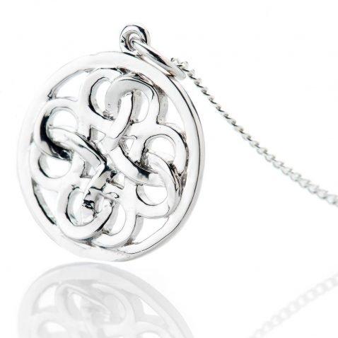 Heidi Kjeldsen Striking Sterling Silver Viking Love Knot Small Pendant - P1229-2