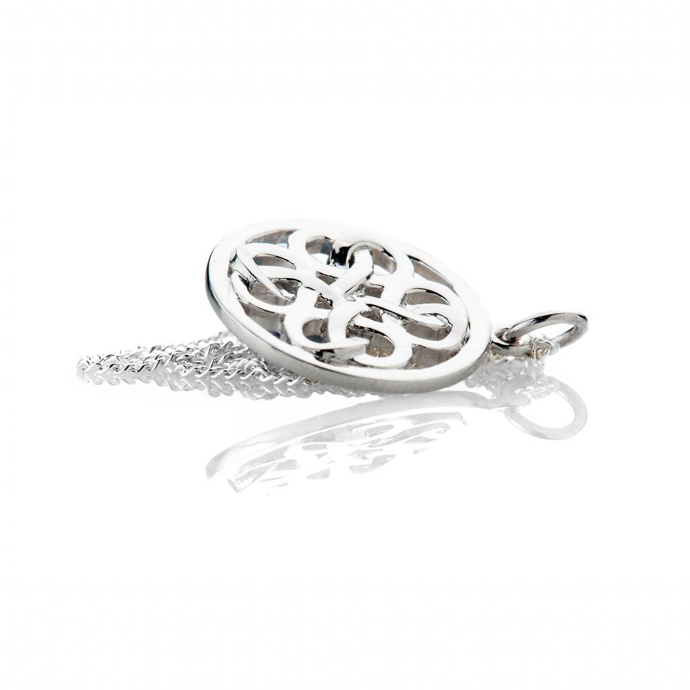 Heidi Kjeldsen Striking Sterling Silver Viking Love Knot Small Pendant - P1229-3