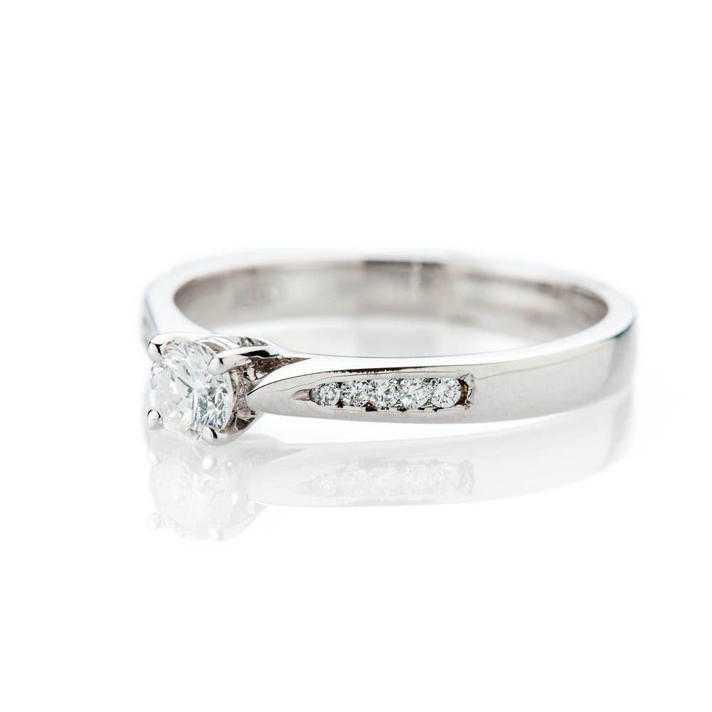 Heidi Kjeldsen Stylish Brillant Cut Natural Diamond And Gold Solitaire Engagement Ring - R1045-1