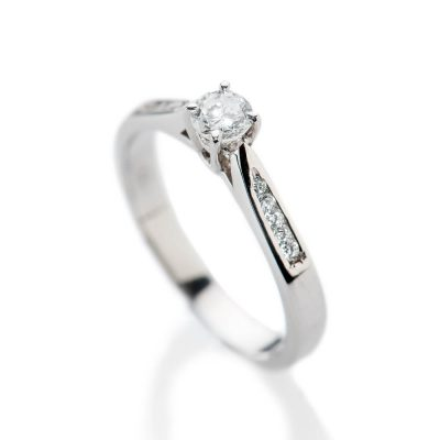 Heidi Kjeldsen Stylish Brillant Cut Natural Diamond And Gold Solitaire Engagement Ring - R1045-2