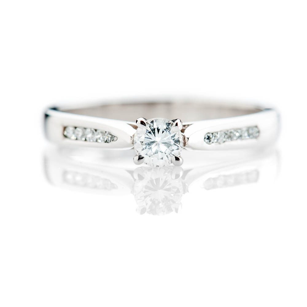 Heidi Kjeldsen Stylish Brillant Cut Natural Diamond And Gold Solitaire Engagement Ring - R1045-3